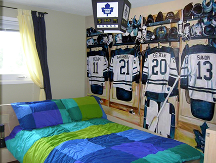 Room Decorating Ideas on How To Decorate Kid S Bedrooms In A Hockey Theme